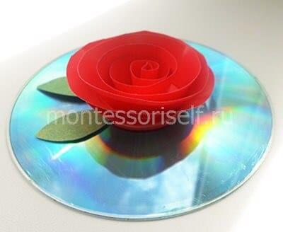 Розочка на диске