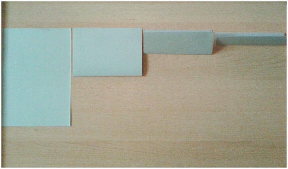 Сложение листа для оригами 1