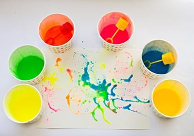 Цветная мыльная вода