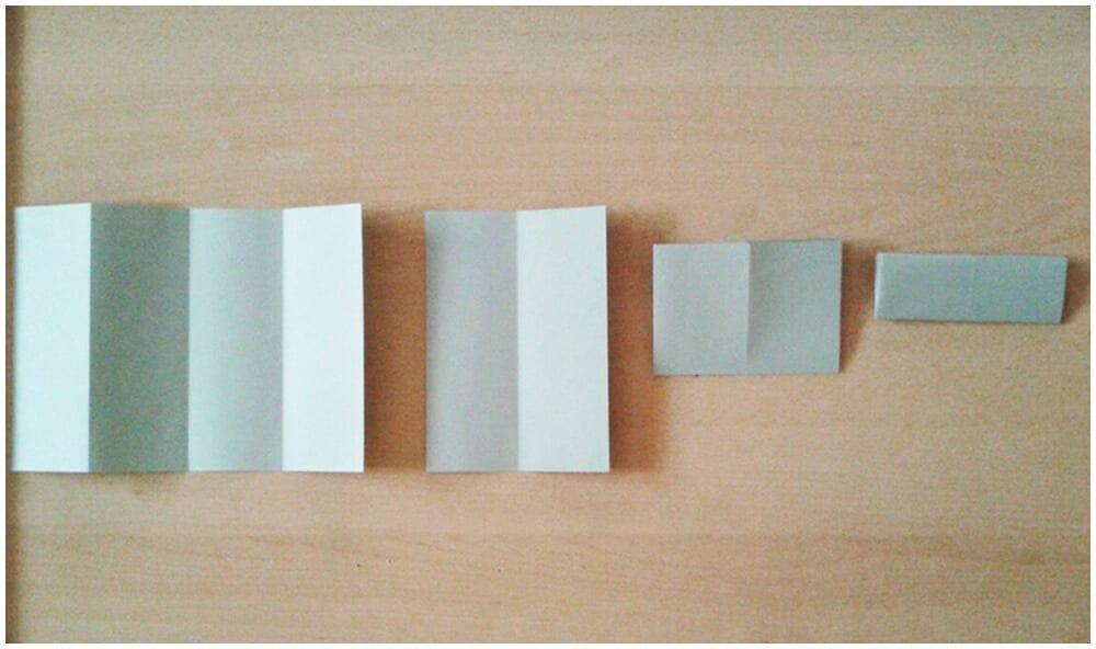 Сложение листа для оригами 2