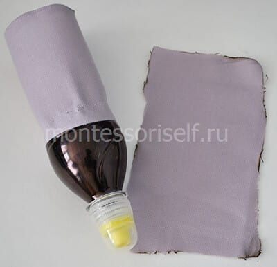 Wrap bottle with cloth