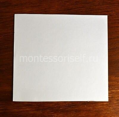 Квадратный лист картона