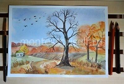 Осенний пейзаж готов