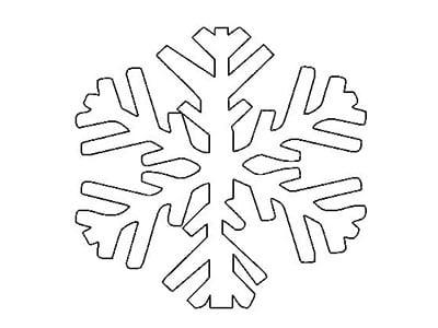 Снежинка из бумаги 11