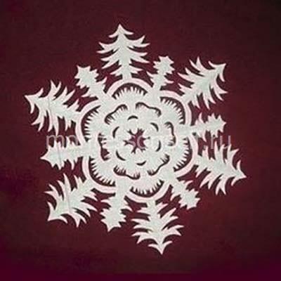 Готовая снежинка 6