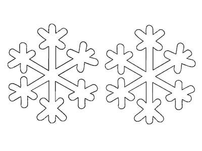 Снежинка из бумаги 6