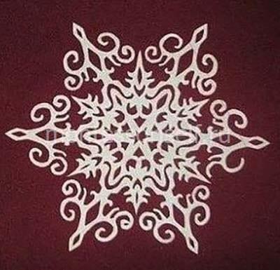 Готовая снежинка 7
