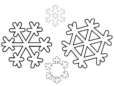 Снежинка из бумаги 8