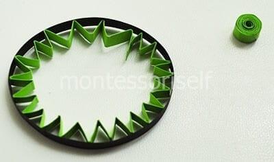 Зеленая гармошка внутрь круга