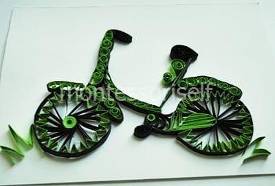 Закрепляем велосипед на основе