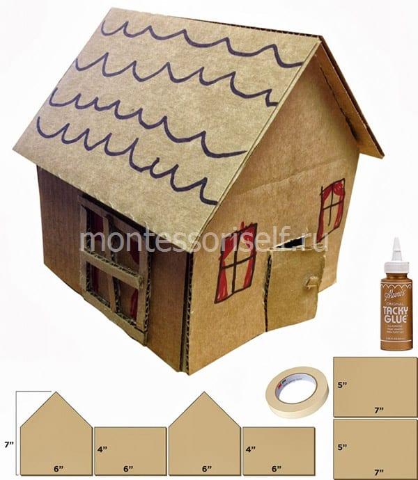 Простой домик со схемой