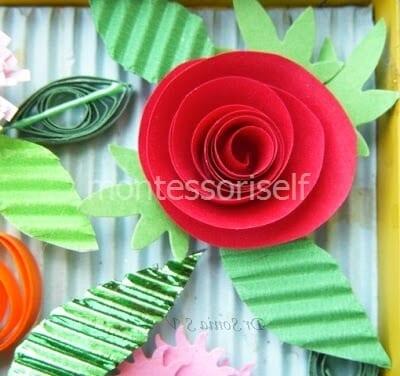 Роза из бумажной полосы
