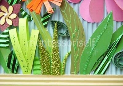 Украшаем листики блестками