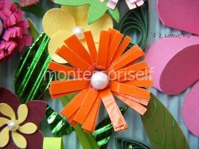 Цветок из прямоугольных лепестков