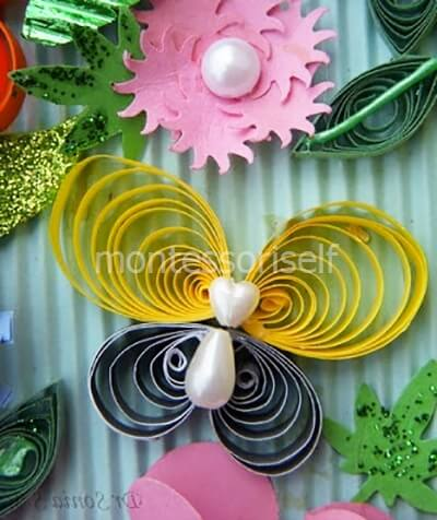 Бабочки квиллинг