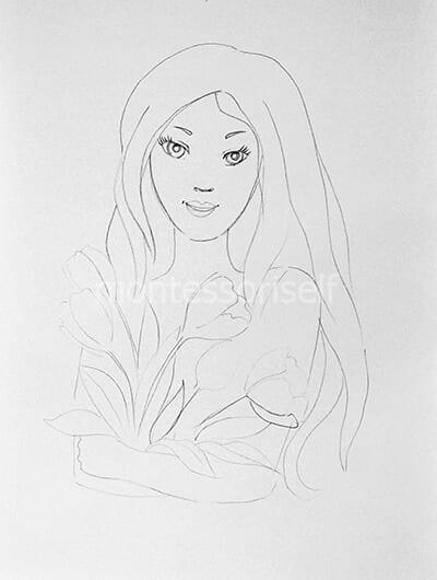 Рисунок мамы карандашом