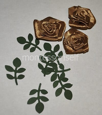 Листья из зеленой бумаги