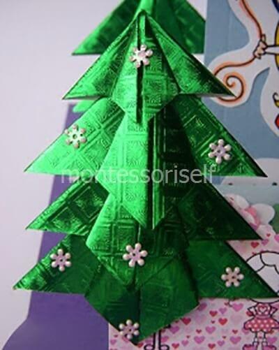 Елочка оригами для начинающих