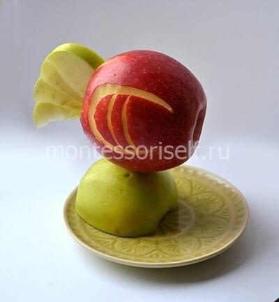Поделка из яблок простое 609