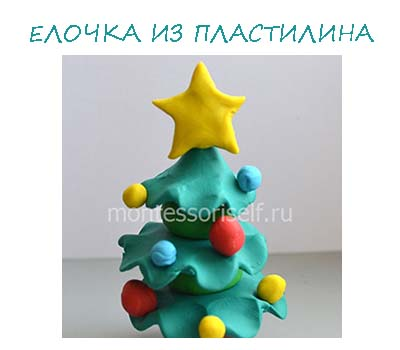 Christmas tree made of plasticine with your own hands