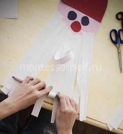 Подкручиваем бумажные полоски