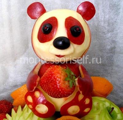 Мишка из яблок