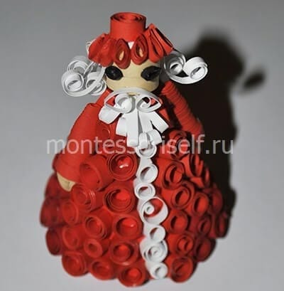 Квиллинг Дед Мороз