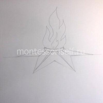 Рисуем языки пламени