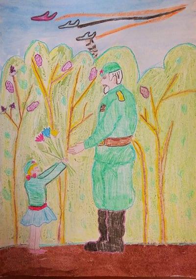 """Рисунок на 9 мая """"Благодарность войну"""""""
