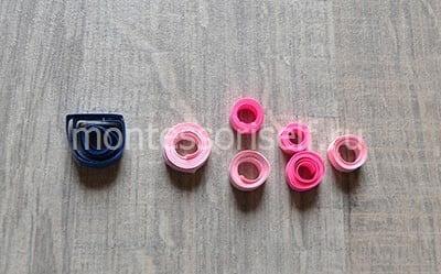 Синий и розовые роллы