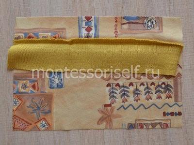 Нижний шов шарфика