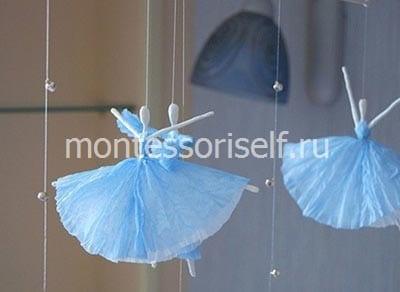 Воздушный балет из салфеток