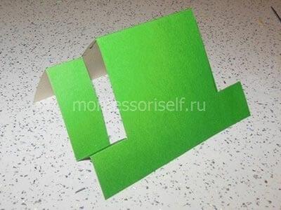 Основа открытки из картона