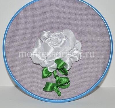"Вышивка лентами ""Роза"""