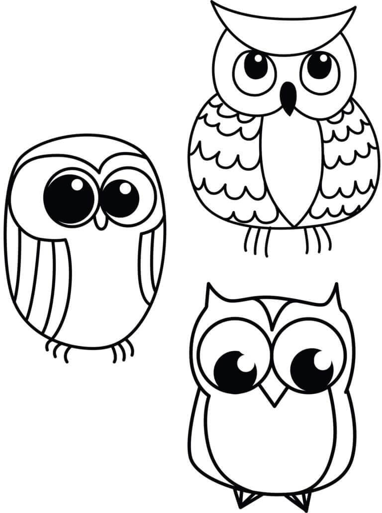 Рисунок совы для поделки 1