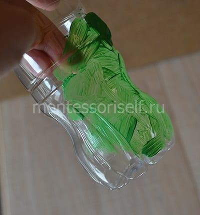 Раскрашиваем бутылку