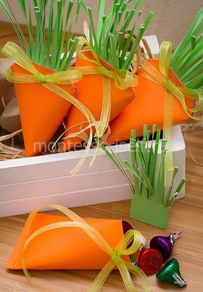 Морковки из бумаги