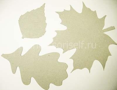 Трафареты листьев из картона