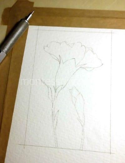 Рисунок с гвоздиками карандашом