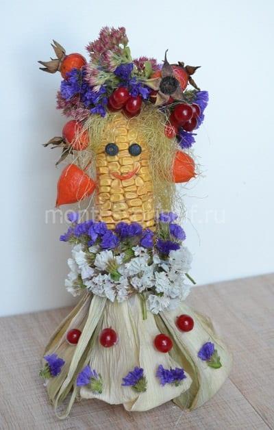 Поделка из кукурузы на тему осень