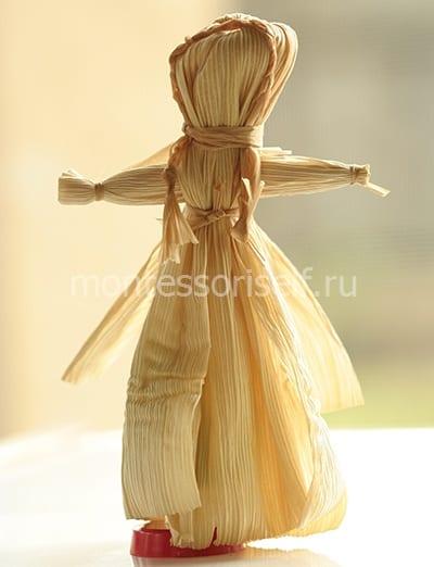 Куколка из листьев кукурузы