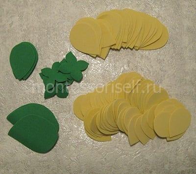 Лепестки, листики и чашелистики