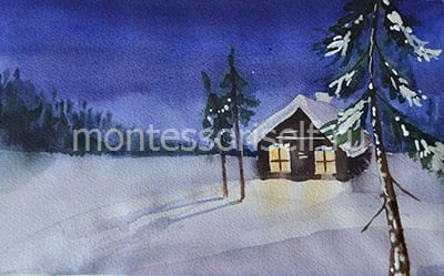 Снег на еловых лапках