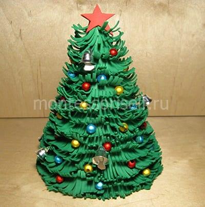 Новогодняя елочка из фоамирана