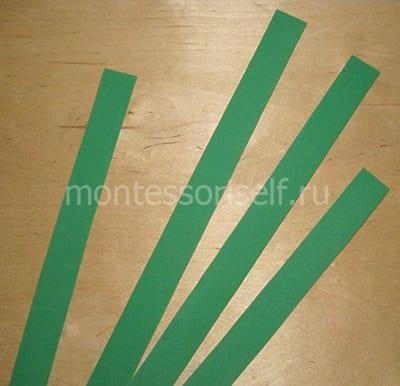 Полоски из зеленого фоамирана