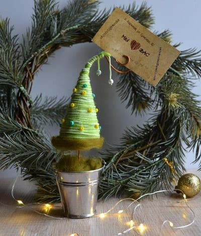 Топиарий елка в подарок на Новый Год
