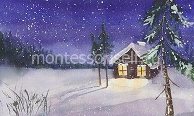 Зимний рисунок
