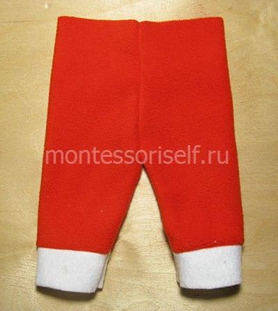 Зашиваем штаны по средней линии и выворачиваем их