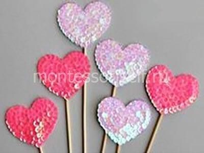 Украшение на День Святого Валентина на палочке