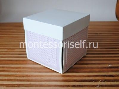 Приклеиваем квадраты к коробке